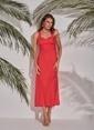 Morhipo Beach Sırtı Çapraz Elbise Kırmızı